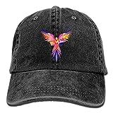 Linkla Danniol Logan Paul's Colorful Parrot Washed Unisex Adjustable Baseball Cap Dad Hat Black