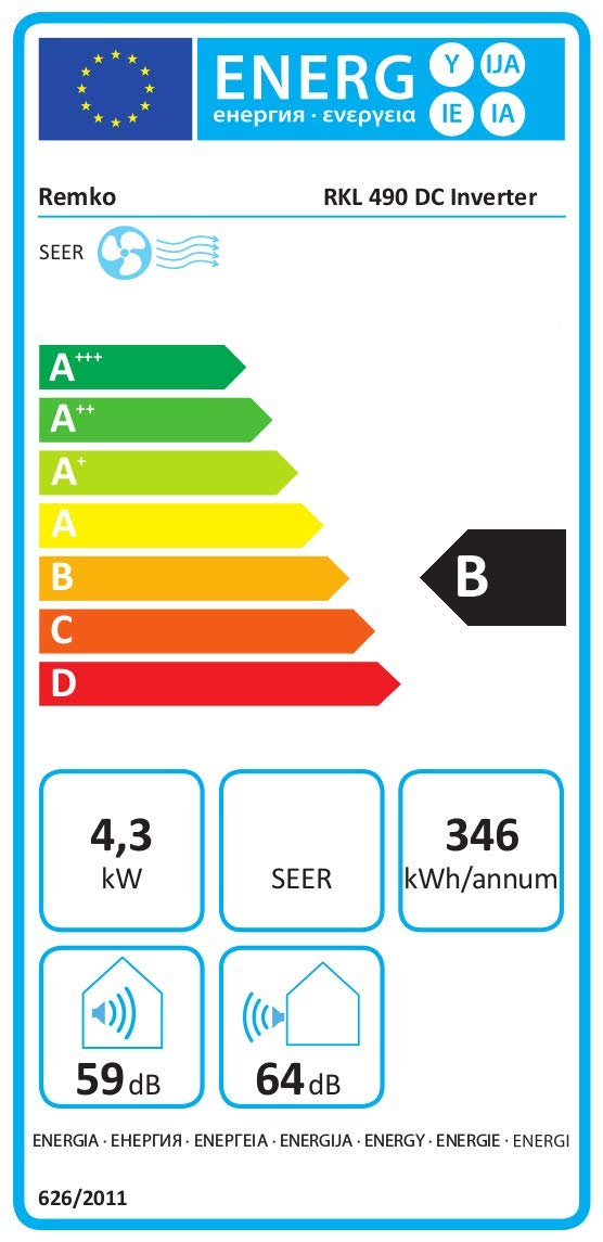 Remko Palma DC Mobiles Klimagerät RKL 491 DC Silber 4,3 kW