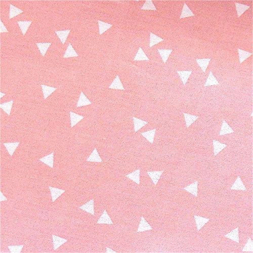 Rosa Dreieck (0,5m Stoff Triangle Dreiecken rosa Motivgröße 0,5cm Meterware 100% Baumwolle 1,4m breit Gewicht: 130 g/m² Zertifiziert: Ökotex 100)