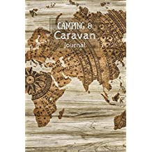 Camping & Caravan Journal: Vintage World Map (Camping, Caravan and Campervan Journals)