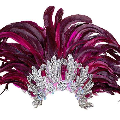 Samba Kopfschmuck Federschmuck Rio Rio Federkopfschmuck Brasilien Feder Kopf Schmuck Burlesque Haarband Kostüm (Fallen Kostüm Kopf)