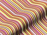Saum & Viebahn GmbH & Co. KG Möbelstoff Breeze Streifenmuster Farbe rot als Robuster Bezugsstoff, Polsterstoff rot gestreift zum Nähen und Beziehen,Polyester, Polypropylen, Outdoor geeignet