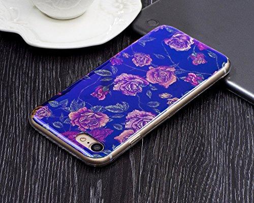 Für Apple IPhone 7 Plus Shell Fall, Ultra Thin Leichtgewicht Luxus Blau Licht TPU Silikon Gel Schutzmaßnahmen Rückseite ( Color : B ) H