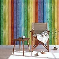 Decorativo autoadhesivo Rainbow Panel de madera grano papel de contacto para maletero de cajón para gabinetes de cocina Backsplash Countertop mesa muebles pared artes de vinilo 24pulgadas por 9,8pies
