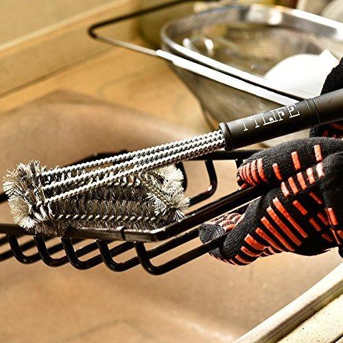 TTLIFE Guantes de Cocina para Horno, Barbacoa y Parrilla Guantes de Nomex y Kevlar Resistente al calor hasta 932°F( 500ºC) Flexibles/ Transpirables/ Lavables Permiten cocinar durante mucho tiempo a Altas Temperaturas- 1 Par (largo) - 2