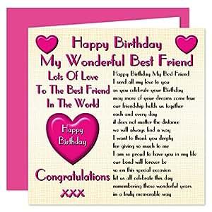 Best Friend Happy Birthday Card