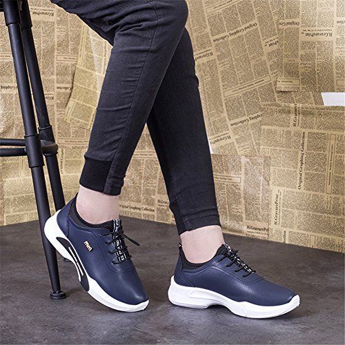 Hibote Homme Sneakers Chaussures de Outdoor Chaussures de Course Sports Fitness Gym Bleu