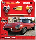 Airfix A55200 Jaguar E Type 1:32 Scale Classic Car Category 2 Gift Set including Paint, Glue and Brushes