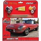 Airfix A55200 Jaguar E Type 1:32 Scale Model Medium Starter Set