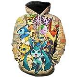 Men And Women Children'S Games Pokemon Hoodie 3D Printing Cute Cartoon Fashion Sweatshirt Casual Coat