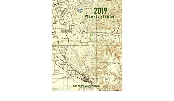San Isidro California Map.Buy 2019 Weekly Planner San Ysidro California 1943 Vintage Topo