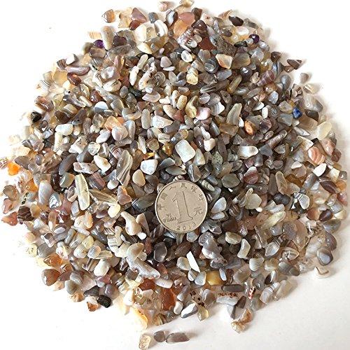 AITELEI 1 lb natürlichen persischen Achat getrommelt Chips zerkleinerte Stein Healing Reiki Kristall unregelmäßige geformte Steine Schmuck machen - Persische Dekor