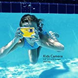 TOP-MAX Digital Underwater Kids Camera Waterproof Dustproof with 2.0 TFT LCD Screen D720p 12MP(Interpolation Pixels) for Swimming Diving and Beaching(Yellow)