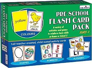 Creative Education Aids 0512 Pre School Flash Card