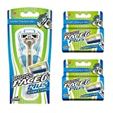 Dorco Pace 6 Plus Razor for Men: Ultra-sharp six blade Design – Pivoting Head for Maximum Coverage – Built-In Fine Sculpting Trimmer – Lubrication Strip with Aloe and Vitamin E – 10 Blades + 1 Handle