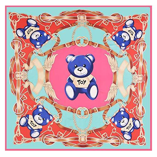 Schal Schal/Leicht und atmungsaktiv Reisen/Strandurlaub/Party/Party Sonnenschutz Warm Twill Silk Bear Big Square Schal 130Cm,C - Big Square Schal
