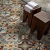 15 pezzi 20x20 cm - PP00023 Decorazione adesiva in PVC per pavimenti su materiale calpestabile - Stickers design - Madeira