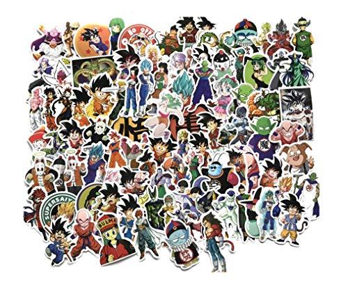 100 Cartoon Anime Dragon Ball Z DBZ Aufkleber für Gepäck Case Auto Dekoration Aufkleber für Laptop Kühlschrank Fenster Wand