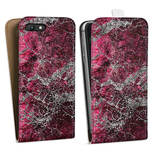 Apple iPhone X Silikon Hülle Case Schutzhülle Stein Struktur Muster Look Downflip Tasche weiß
