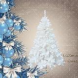 HG® 150cm Weiß Weihnachtsbaum künstliche Tanne Zweige Weihnachtsbäume Metallständer Kunststoff Nadeln PVC Hart und Weichnadel sehr hochwertigfür outdoor Innen