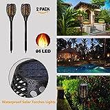 Solarleuchten, 2er Solar Lichter Garten 96 LED Flamme Fackeln für Draußen LED Flammen Licht LED Solarlampe für Garten Dekoration Festival Atmosphäre im Freien Wasserdichte