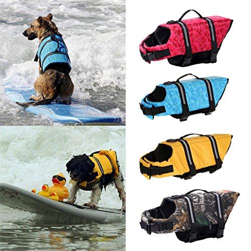 Generic Hund Reflektierende Sicherheit Schwimmweste Schoner Hundejacke - Blau , M