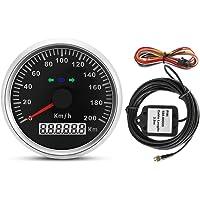 60/mm segnalatore alta velocit/à tachimetro GPS come moto adatto a tutti i veicoli di terra contachilometri automobili Searon misuratore di velocit/à veicoli a motore