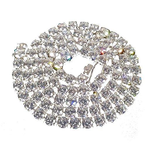 Mcsays hip hop collana 4 mm 1 Row cristallo tennis catena collana in acciaio INOX Bling Iced out Dope collane moda gioielli accessori per uomo donna