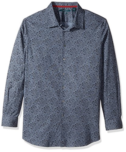 Perry Ellis herren Big & Tall Midnight Floral Shirt  Button Down Hemd  -  blau -  (Button-down-hemd Tall And Big)