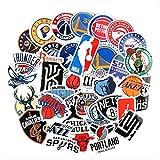 37 Autocollants NBA Basketball Équipe Logo Logo Icône Valise Cahier Autocollant Étanche