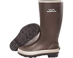 Wellington Boots, Rubber Wellies for Adults, Waterproof Waders for Fly Fishing or Duck Hunting, High Leg Footwear On Snow Rai