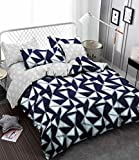 Magnetic Shadow Cotton AC Comforter Duvet Set with Bedsheet, Queen Size, Multicolour