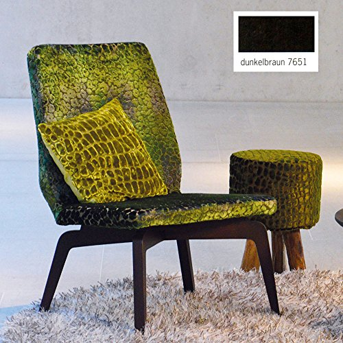 Jan Kurtz Lounge DWELLER, Gestell: Eiche natur, Bezug: Loden dunkelbraun