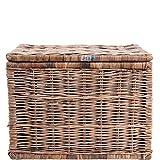 Butlers LE HAVRE Rattan-Truhe Aufbewahrungs-Box mit Deckel Aufbewahrung Kiste Korb Truhe