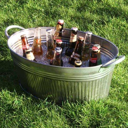 en-acier-galvanise-nervure-ovale-pot-fete-de-bar-drinkstuff-pot-boisson-boisson-boisson-seau-seau-se