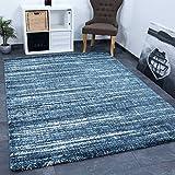 Teppich Blau Meliert Dicht Gewebt Qualität Pflegeleicht Wohn Schlaf Kinder Zimmer Schadstoff Geprüft 80x300 cm