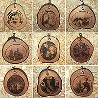 LLAVEROS PERSONALIZADOS de MADERA recuperada de olivo con FOTOGRAFÍA grabada 5 cm aprox