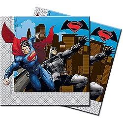 Serviilletas de papel de Batman vs Superman, 20unidades