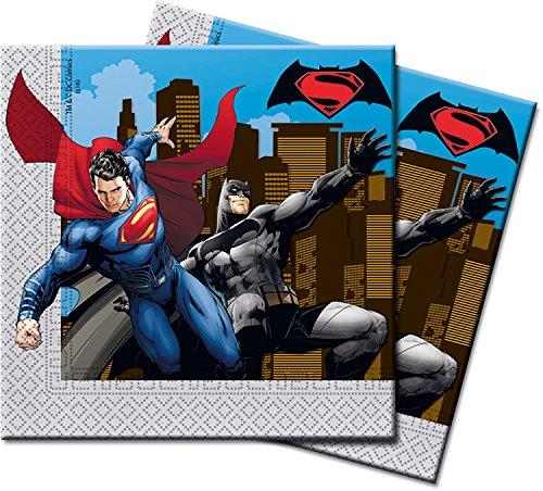 Batman Vs Superman, Lot de 20serviettes en papier, Figurines