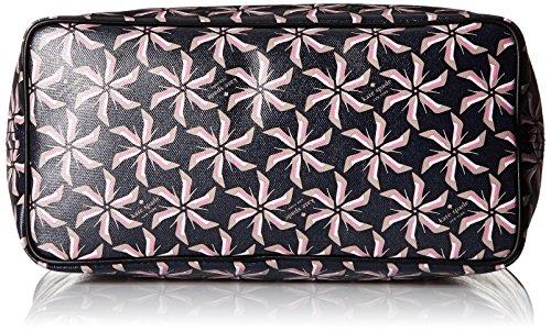 Kate spade new york corte Tanner Tote Broome design Rosie Brown, motivo girandola Blu (Rich Navy)