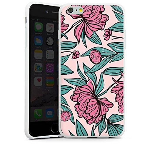 Apple iPhone X Silikon Hülle Case Schutzhülle Boho Blumen Sommer Silikon Case weiß