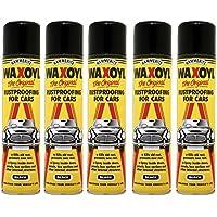 5x Hammerite waxoyl Negro aerosol 400ml óxido Proofing