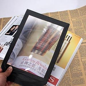 A4piena pagina gigante grande assistito lettura lente d' ingrandimento, ingrandimento 3x