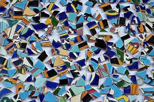500g Bruchmosaik aus Fliesenbildern Muster2, ca. 50-70St.