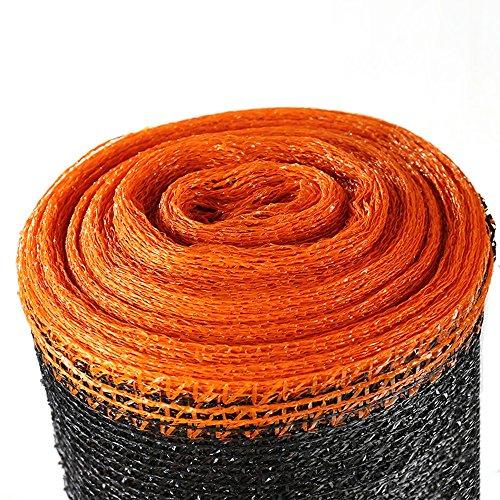 HUO Toile Extérieure D'ombre, Maille De Sun De 6 Bornes, Filet De Sunblock D'ombre, Tissu D'ombre, Filet Résistant Aux UV (Couleur : Black+Orange, Taille : 2 * 50m)