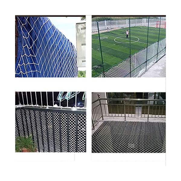 "Safe Net,Net for Stairs Balcony Net Child Safety Net Kids Protection Fence Decor Woven Rope Truck Cargo Trailer Netting Net Mesh Rail Banister Stair Nets,for Playground Children Indoor Outdoor Yard  ★Material of the kids protective netting: pure polyester. ★Mesh size*rope diameter:8cm*4mm(3""*5/32) , 8cm*6mm(3""*15/64) , 8cm*8mm(3""*5/16).Length*width: please make purchase according to your actual needs.We have any other size (rope diameter, mesh, length * width) rope net, support customization.If you have any questions or needs, please contact us. ★Multi-use protection net:family balcony and railing balcony stairs safety net banister stair anti-cat climbing, anti-high fall and other intensive protection; wall ,home, theme party hotel, guesthouse, cafe, bookshop, restaurant, decoration,hanging ect. 6"