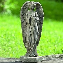 Figura Decorativa Angel Gris Alto 47 cm de Magnesia