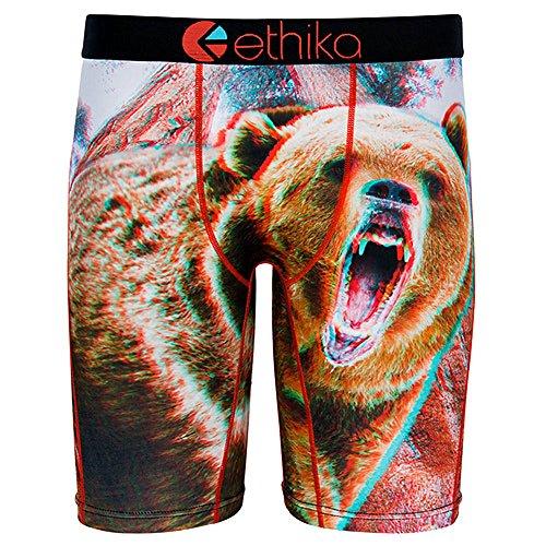 Ethika Men's The Staple Momma 3D Boxer Brief Underwear Brown