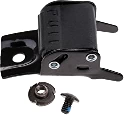 Anbau Black Metal Roller Skates Strap Buckle Replacement Clip with Screw and Nut Repair Kit