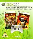 Xbox 360 - Wireless Entertainment Pack inkl. Kung Fu Panda und LEGO Indiana Jones + Wireless Conroller, weiß [UK Import]